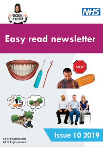Front cover of the easy read newsletter