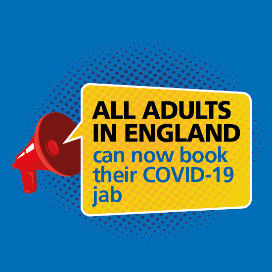 All adults in England can now book their COVID-19 jab