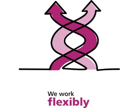 We work flexibly