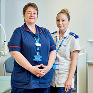 Two NHS healthcare workers